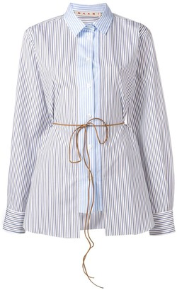 Marni Striped Tie Waist Shirt
