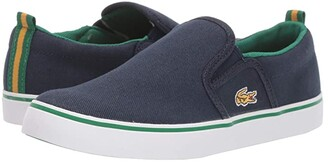 Lacoste Kids Gazon 319 1 (Little Kid) (Navy/Green) Kid's Shoes