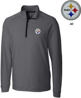 Cutter & Buck Men's Pittsburgh Steelers 3D Emblem Jackson Overknit Quarter-Zip Pullover