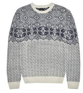 Dorothy Perkins Womens **Burton Grey Fairisle Design Knitted Crew Jumper