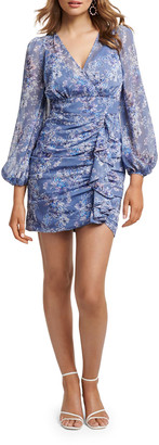 Ever New Tassa Floral Mock-Wrap Shirred Skirt Mini Dress