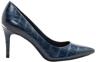 Calvin Klein Gayle Navy Croc Heeled Shoes