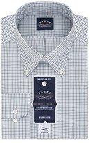 Eagle Men's Non Iron Flex Collar Regular Fit Tattersall Buttondown Collar Dress Shirt
