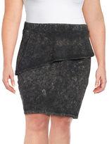 Junarose Peplum Knit Skirt