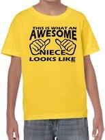 StarliteFunnyTShirts Starlite~Kids Funny Sayings Slogans T Shirts-Awesome Niece tshirt