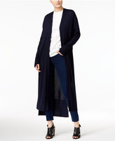 DKNY Long Open-Front Cardigan