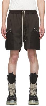Rick Owens Grey Running Shorts