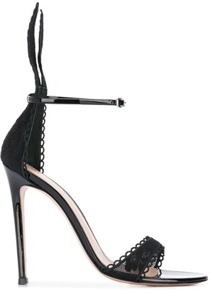 Gianvito Rossi Natalia lace-embellished sandals
