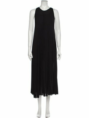 Tess Giberson Crew Neck Long Dress Black