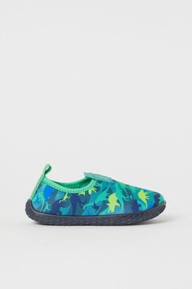 H&M Patterned aqua shoes