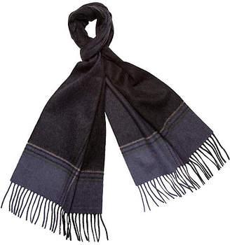 A & R Cashmere A&R Cashmere Striped Cashmere Scarf - Black/Indigo - a&R Cashmere