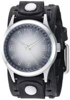 Nemesis Gradient Pointium Stainless Steel Analog-Quartz Leather Strap Grey 38.7 Casual Watch (Model: FWTK217K)