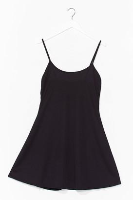 Nasty Gal Womens Swing It Ribbed Mini Dress - Black