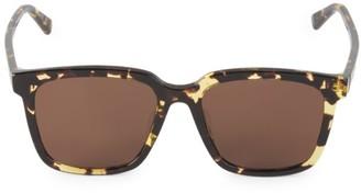 Bottega Veneta 54MM Square Havana Sunglasses
