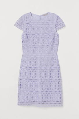 H&M Short Lace Dress - Purple
