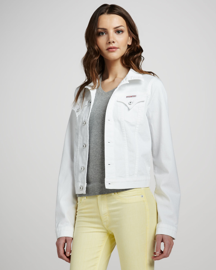 Hudson Denim Jacket, White
