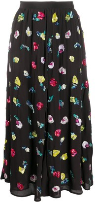 Amen Sequin Embroidered Midi Skirt