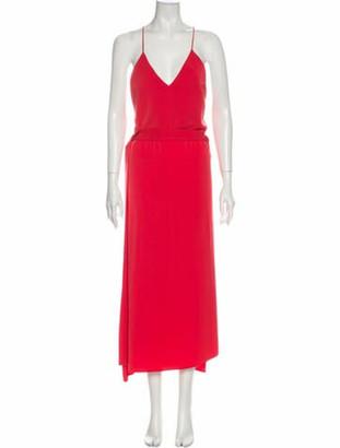 Alexis V-Neck Long Dress Orange