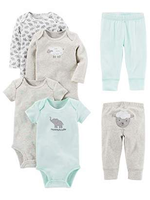Carter's Simple Joys by Baby 6-Piece Neutral Bodysuits (Short and Long Sleeve) and Pants Set