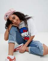 Asos Hello Kitty x Snapback Beret With Embroidery Detail