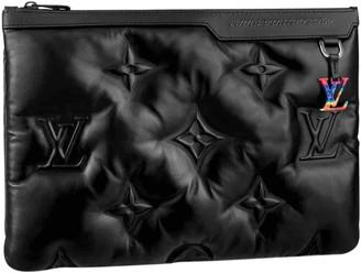 Louis Vuitton Pochette A4 Black Leather Bags