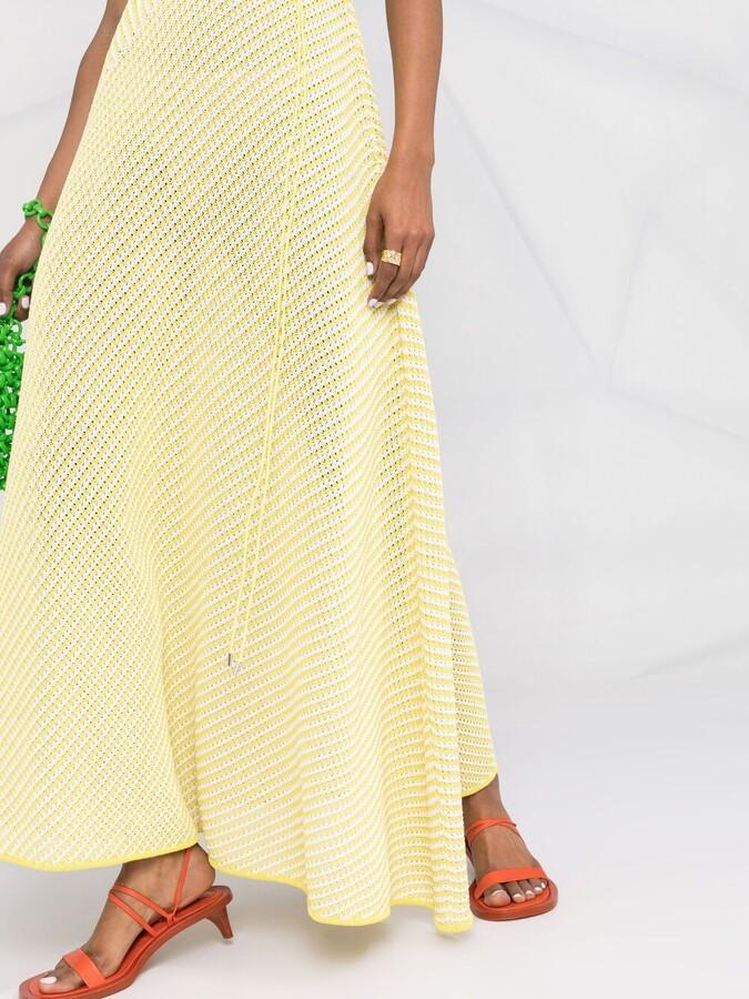 Thumbnail for your product : Bottega Veneta Open-Knit Drawstring Maxi-Dress
