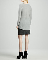 Eileen Fisher V-Neck Wool Shirttail Tunic