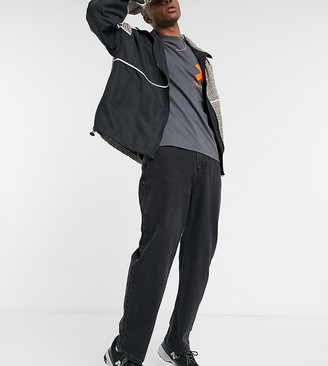 Collusion x014 dad jeans in washed black