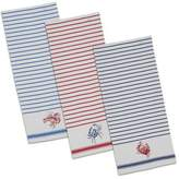Design Imports Shellfish Dish Towels in Red (Set of 2)