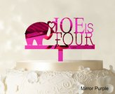 "Printtoo Kids Birthday Cake Topper Personalized Mirror Cake Topper Color Option Available 5""-7"" Inches Wide"