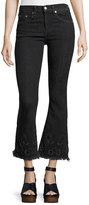 Rag & Bone High-Rise Crop Flare Denim Jeans, Black