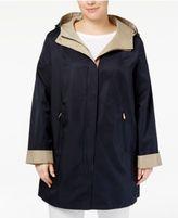 Jones New York Plus Size Hooded Raincoat