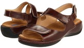 Wolky Liana (Cafe Smooth Leather) Women's Sandals