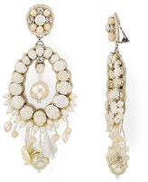 Ranjana Khan Petal Clip-On Drop Earrings