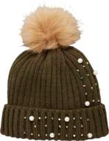 Very Pearl and Embellished Detail Beanie