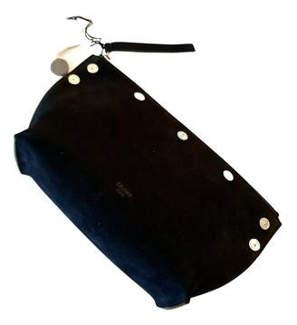 Celine Black Suede Travel bags
