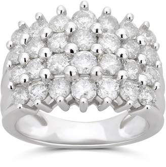 Affinity 3.00 Multi-Row Diamond Band Ring, 14K