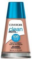 Cover Girl Clean Oil Control Liquid Makeup, Medium Light 535, 1 Ounce Bottle
