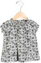 Makie Girls' Short Sleeve Floral Print Top