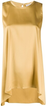Brunello Cucinelli Asymmetric Sleeveless Blouse