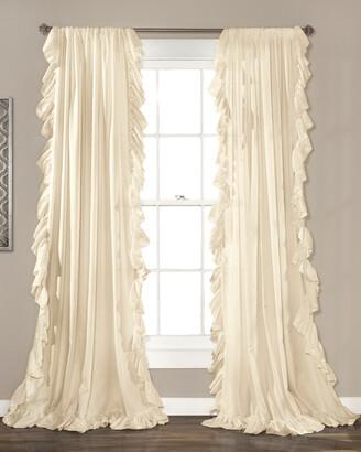 Triangle Home Fashion Reyna Window Curtain Ivory Set