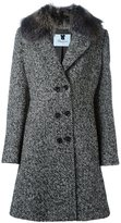 Blumarine herringbone pattern coat