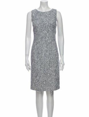 Oscar de la Renta Tweed Pattern Knee-Length Dress