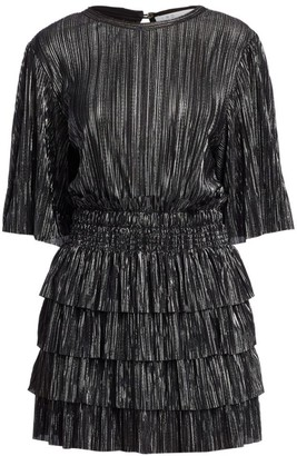 IRO Cuszco Pleated Stripe Blouson Dress