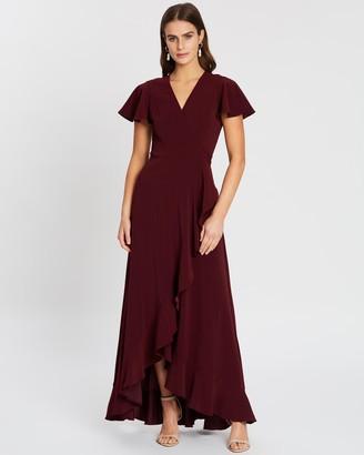Cooper St Poppy Flutter Sleeve Wrap Dress