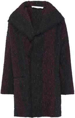 IRO Beverly Striped Melange Wool-blend Boucle Jacket