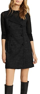 Reiss Maevie Double Breasted Tweed Dress