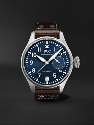 IWC SCHAFFHAUSEN Big Pilot's Le Petit Prince Automatic 46mm Stainless Steel And Leather Watch, Ref. No. Iw501002