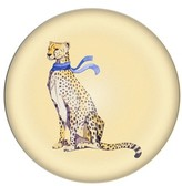 Cathy's Concepts Cheetah Domed Glass Paperweight - Yellow