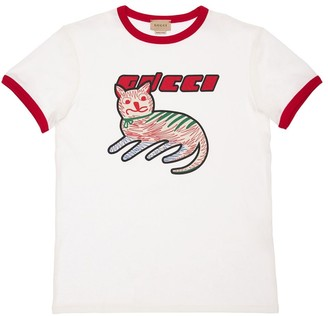 Gucci Print Cotton & Linen T-Shirt